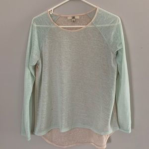 Teal and Cream Top